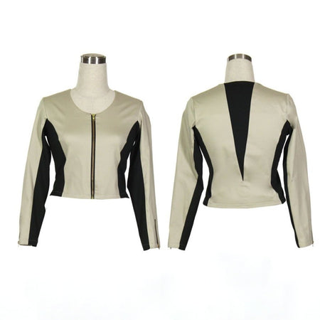 Women's Tan and Black Golf Jacket