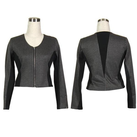 Women's Pinstripe Black Golf Jacket