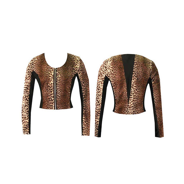 Women's Leopard Golf Jacket