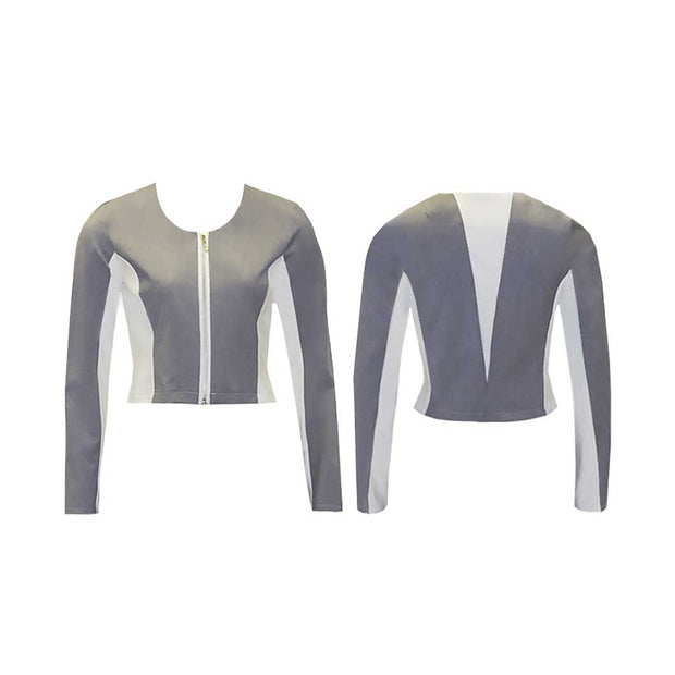Women's Grey and White Golf Jacket