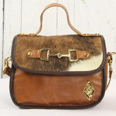 Mini Saddle Bag - Tan and Brown