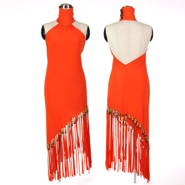 Halter Dress - Orange