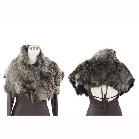 Grey Raccoon Fur Shrug
