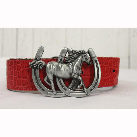 Reversible Belts-Black Leather to Red Leather