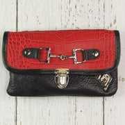 Belt Crossbody-Phone Pouch -Red and Black