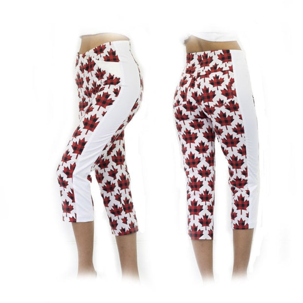 Women's Canadian Maple Golf Capris