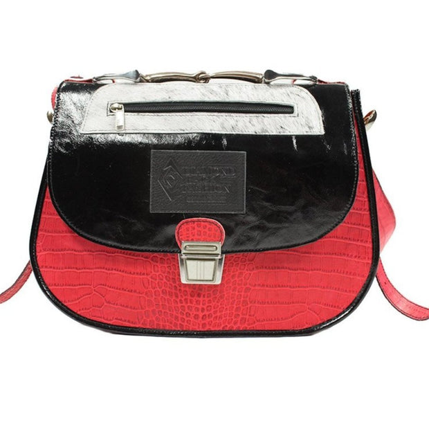 Saddle Bag - Red and Black