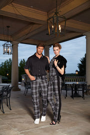 Women's Red Checkered Golf Capris