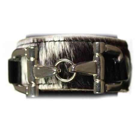 Salt and Pepper Cowhide Bit Bracelet - Sample Sale