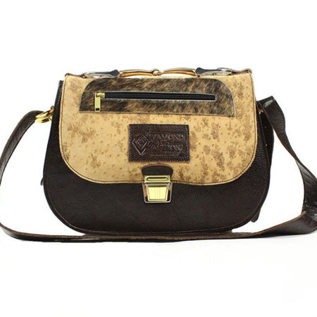 Saddle Bag - Speckled Brown