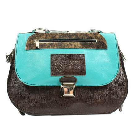 Saddle Bag - Turquoise and Brown