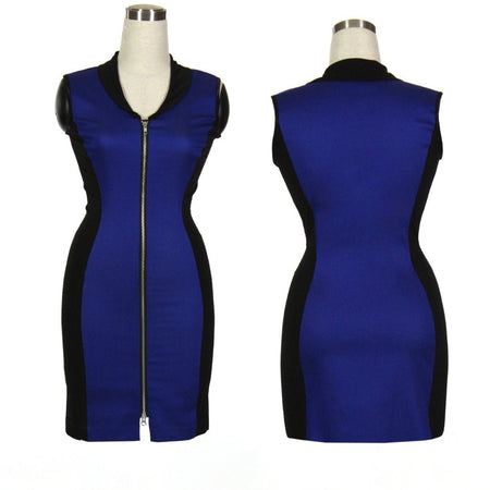 Women's Black and Blue Golf Dress