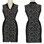 Women's Black and White Cross-Sleeveless