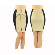 Women's Tan and Black Standard Golf Skirt