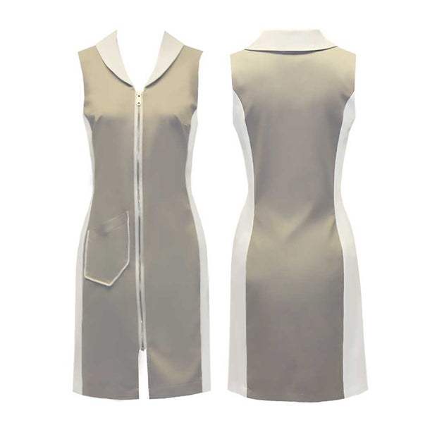 Women's Light Grey Sleeveless Dress