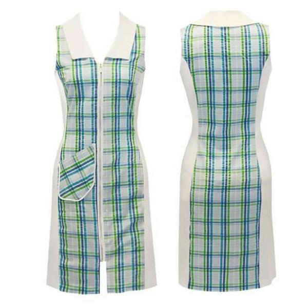 Women's Green Plaid Golf Dress