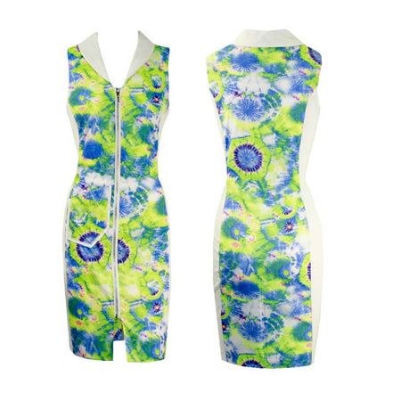 Women's Tie Dye Golf Sleeveless Dress