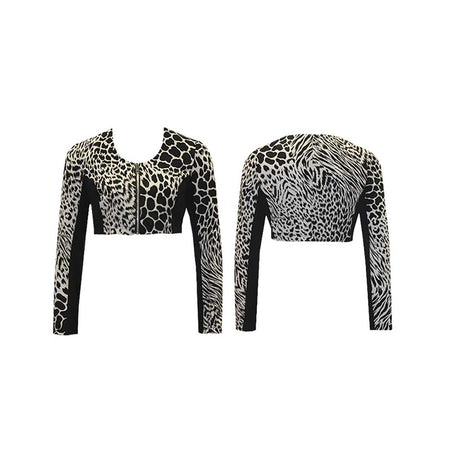 BOLERO Women's Animal Mix Golf Jacket