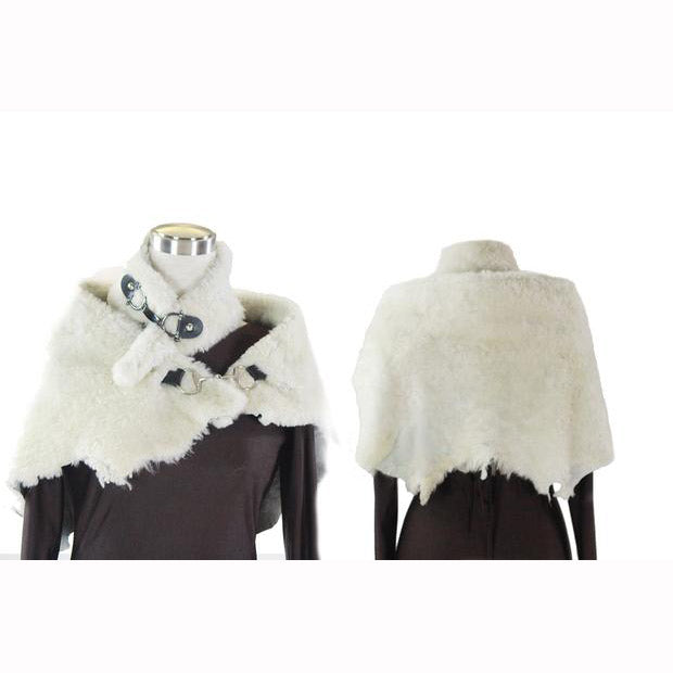 White Shearling Fur Shrug