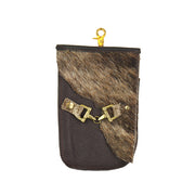 Flap Clutch With Gusset- Brown