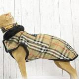 Plaid Leather Dog Coat