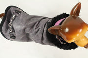 Purple Leather Dog Coat