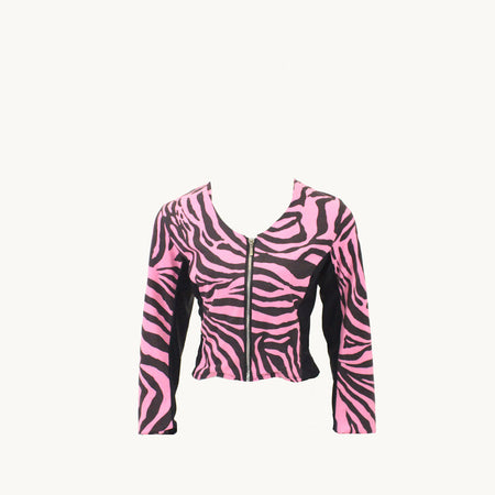 Women's Pink Zebra Golf Jacket