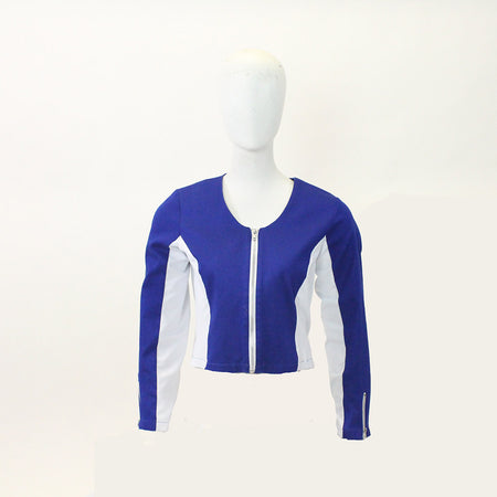 Women's Blue and White Golf Jacket