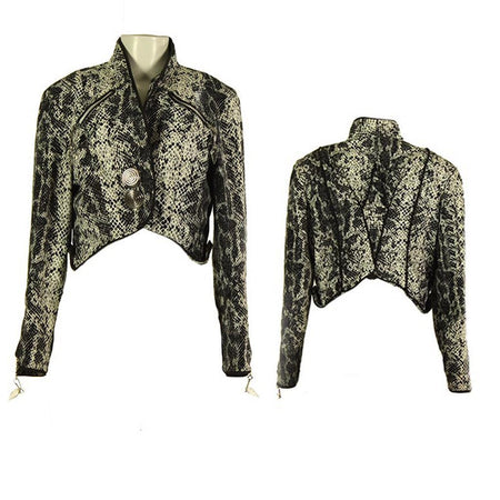Snake Skin Printed Button Jacket