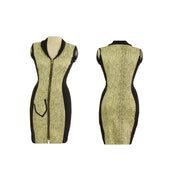 Women's Snake Skin Golf Sleeveless Dress