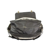 Flap Weekender Bag - Black and White