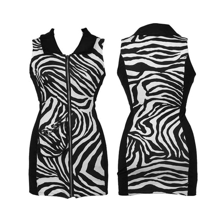 Zebra sleeveless dress