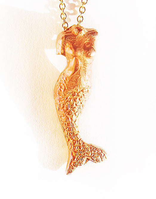 MERMAID RED GOLD | NECKLACE