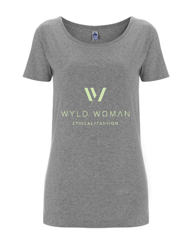 WYLD WOMAN 〇 White Organic Cotton Logo Tee