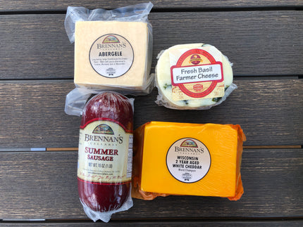 Wisconsin Cheese Gift Boxes 3-4 Gift Items - Brennans Market