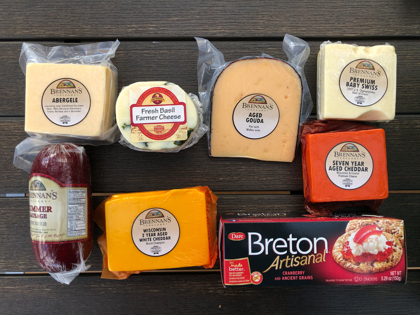 Wisconsin Cheese Gift Boxes -7-9 Gift Items - Brennans Market