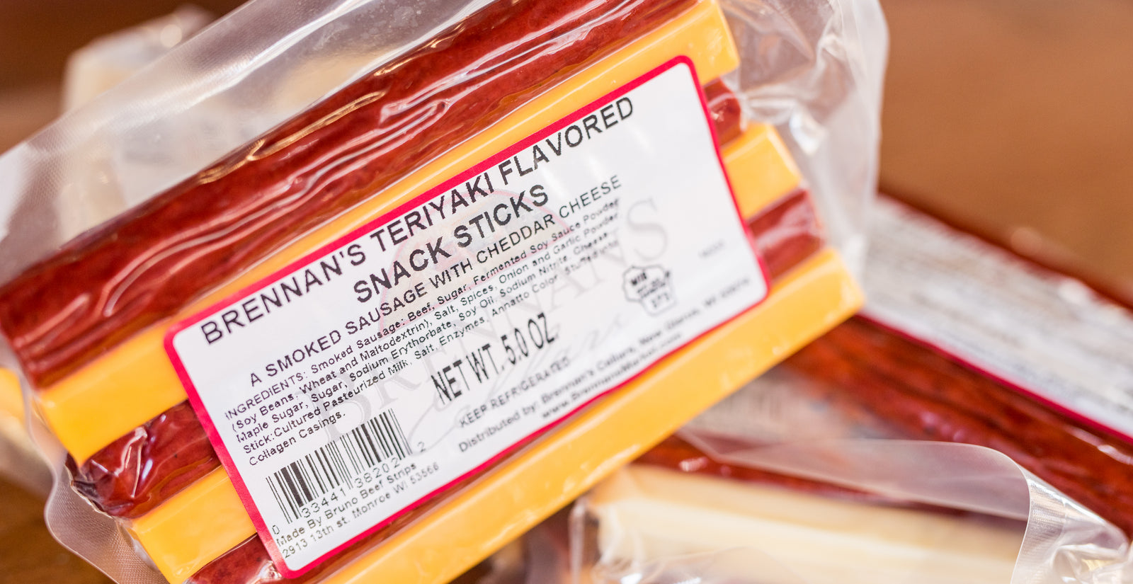 Teriyaki Beef Sticks & Cheddar Cheese - Brennans Market
