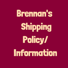 Shipping Information/Policies/ Facts