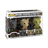 Funko Pop Marvel Emerald Comic Con Exclusive - Game of Thrones - Drogon, Viserion, & Rhaegal- 3 Pack