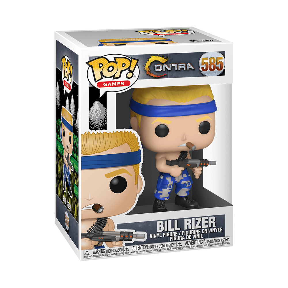 Funko Pop  Games: Contra - Bill Rizer #585