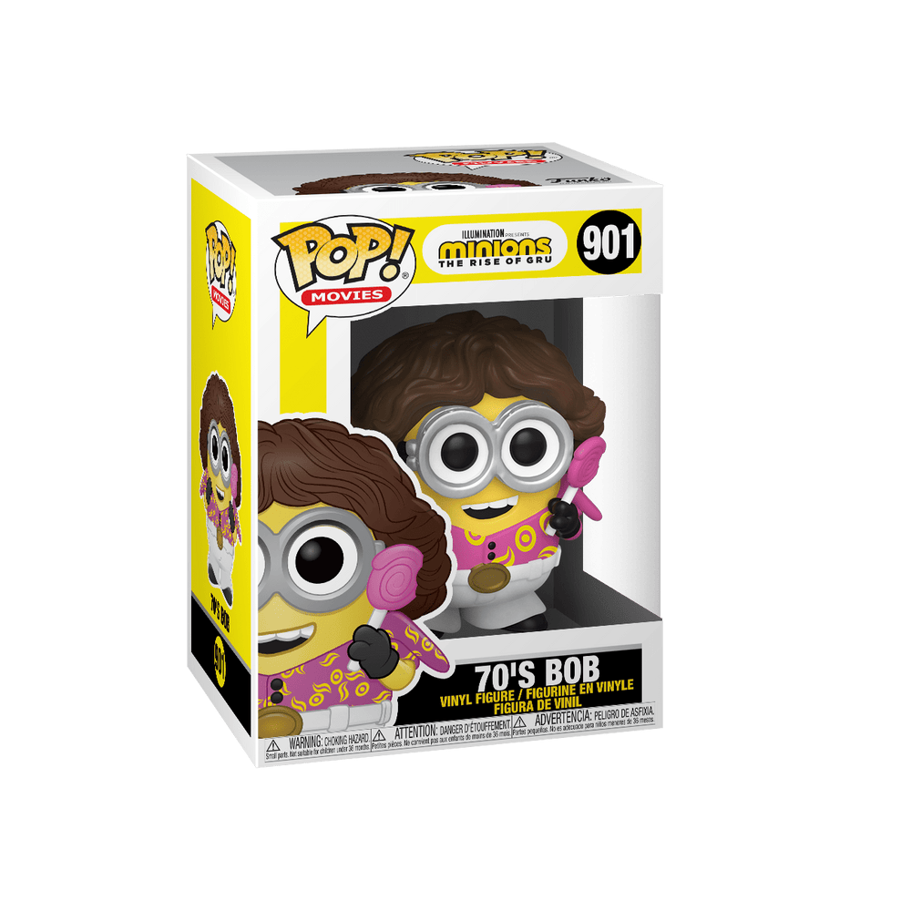 Funko Pop Minions The Rise of Gru - 70's Bob #901