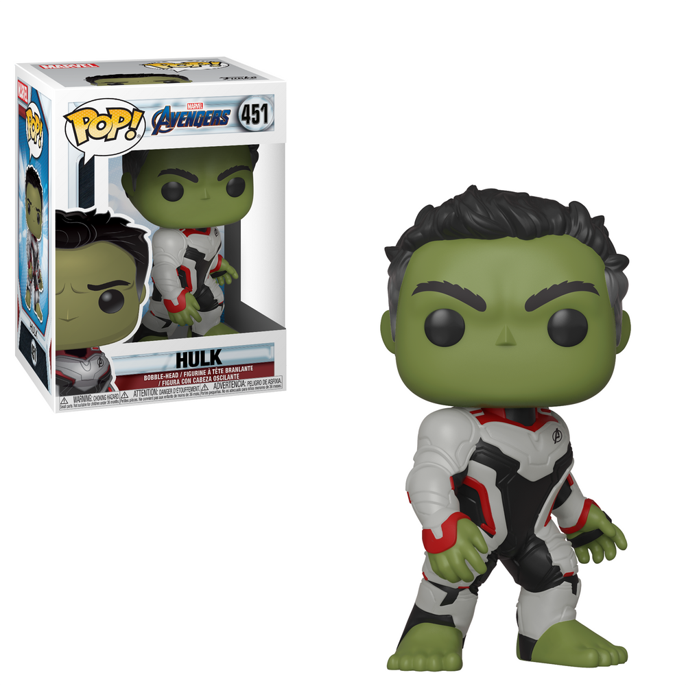 Funko Pop Marvel: Avengers Endgame - Hulk (Team Suit) #451