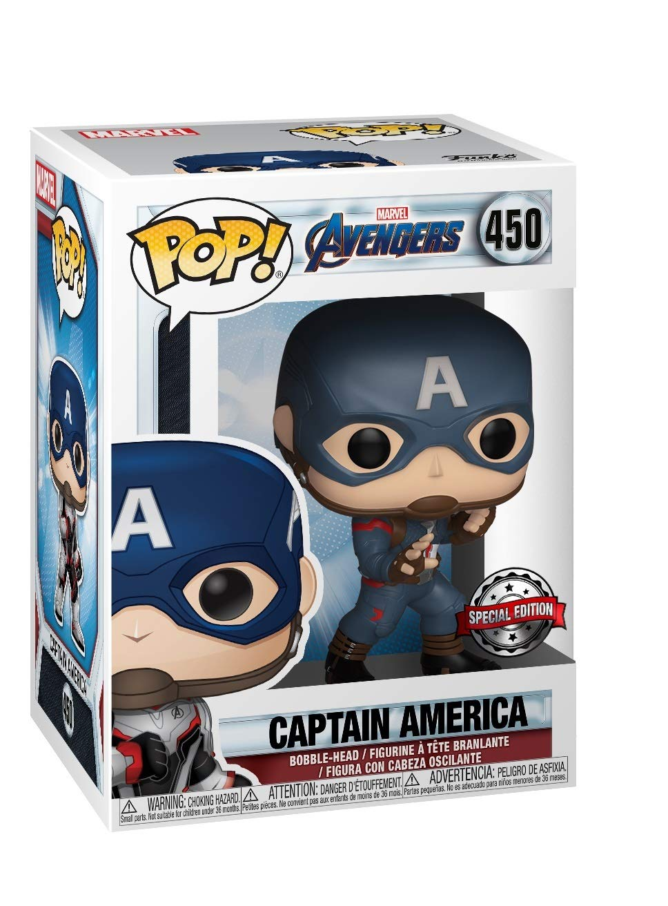 Funko Pop Marvel: Avengers Endgame - Captain America Full Suit#450