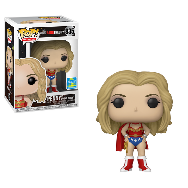 Penny as Wonder Woman - The Big Bang Theory Funko Pop SDCC 2019 Exclusive #835