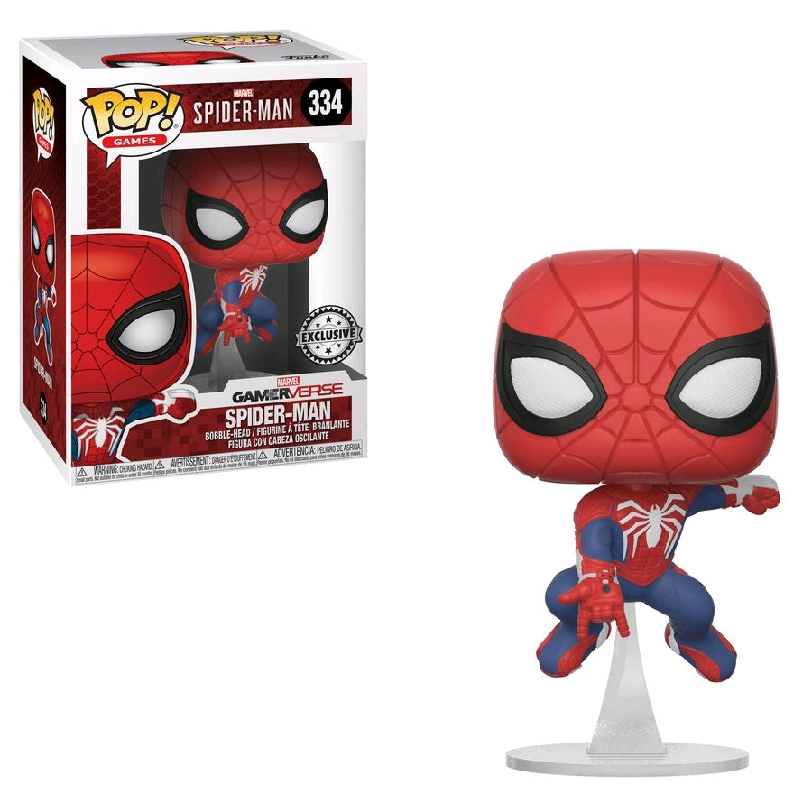 Spider-Man Swinging US Exclusive Funko Pop! Vinyl Figure #334 (Bobblehead)