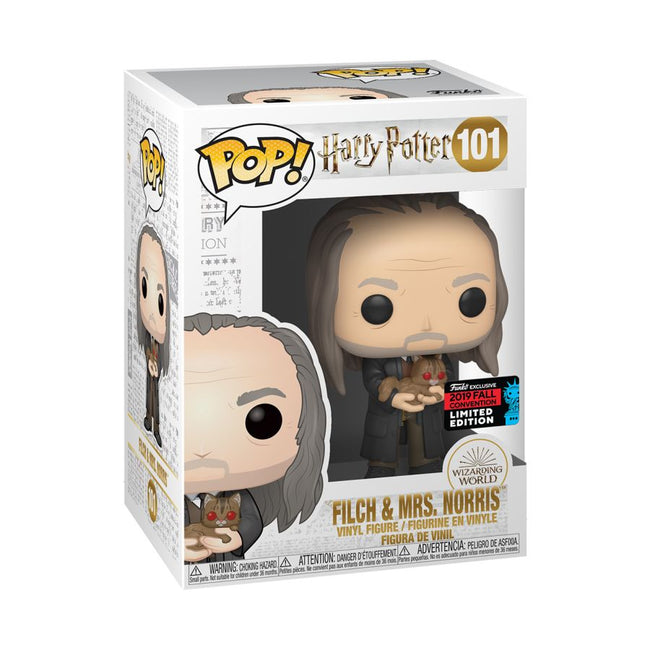 Harry Potter - Filch & Mrs Norris Yule NYCC 2019 US Exclusive Pop! #101