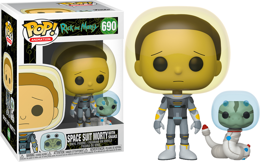 Rick and Morty - Morty Space Suit with Snake Pop! Vinyl #690