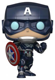 Funko Pop Marvel: Avengers Game - Captain America (Stark Tech Suit) #627