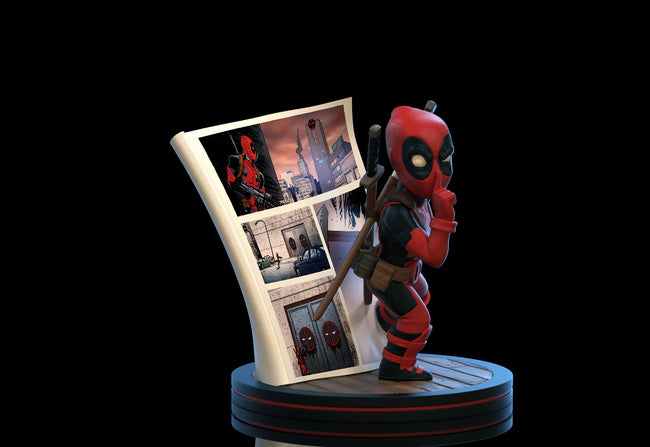 Deadpool 4D Q-Fig Diorama, Quantum Mechanix, Marvel Action Figure