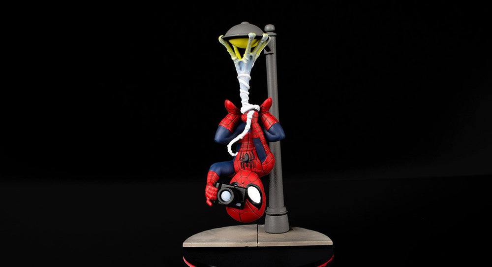 Spiderman Spider Cam Q-Fig Diorama, Quantum Mechanix, Marvel Action Figure